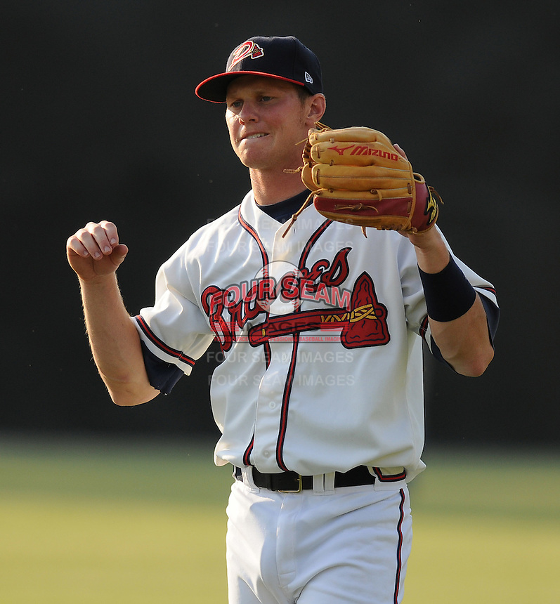 June 19, 2008: Infielder Randy Gress (7) of the Danville Braves, rookie Appalachian League affiliate of the Atlanta Braves, prior to a game against the Burlington Royals at Dan Daniel Memorial Park in Danville, Va. Photo by:  Tom Priddy/Four Seam Images