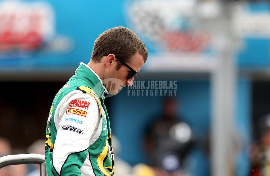 Mar. 3, 2013; Avondale, AZ, USA; NASCAR Sprint Cup Series driver Kasey Kahne during the Subway Fresh Fit 500 at Phoenix International Raceway. Mandatory Credit: Mark J. Rebilas-