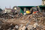 Milano, 30 ottobre 2014 Lavori in corso sulla Darsena.Il nuovo mercato Comunale<br /> Work in progress