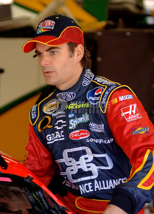 May 19, 2006; Charlotte, NC, USA; Nascar Nextel Cup driver Jeff Gordon (24) during practice for the Nextel All Star Challenge at Lowes Motor Speedway. Mandatory Credit: Mark J. Rebilas..