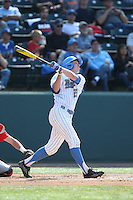 Brett Stephens (23) of the UCLA Bruins bats during a game against the Arizona Wildcats at Jackie Robinson Stadium on May 16, 2015 in Los Angeles, California. UCLA defeated Arizona, 6-0. (Larry Goren/Four Seam Images)