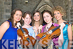 Musicians from Castleisland Presentation Secondary school who performed at the Memorable Melodies concert in St Stephen and John church Castleisland on Sunday evening l-r: Bridget O'Shea, Niamh Tangney, Maeve O'Connor, Eilish Lynch and Bri?d O'Shea ...