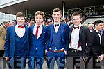 Enjoying  Ladies Day at the Listowel Harvest Racing Festival on Friday were l-r Paddy O'Callaghan, Fintan Linane, Darren Costello, Anthony O'Donnell  all from Tarbert Comprehensive.