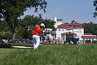 Bethesda, MD - June 29, 2014:  Ben Martin plays his approach shot on the 9th hole during the Final Round of the Quicken Loans National at the Congressional Country Club in Bethesda, MD, June 29, 2014.   (Photo by Don Baxter/Media Images International)