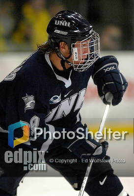 """5 January 2007: University of New Hampshire forward Matt Fornataro (39) from Calgary, AB, in action against the University of Vermont Catamounts at Gutterson Fieldhouse in Burlington, Vermont. The UNH Wildcats defeated Vermont 7-1 in front of a record setting 48th consecutive sellout at """"the Gut""""...Mandatory Photo Credit: Ed Wolfstein Photo.<br />"""