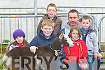 GOATS; Entering their goat for the fianl of the best goats at the Kingdom County Fair, on Sunday at The Ballybeggan Racecourse, Tralee, L-r: Jessica Harrington, Brian,kevin, Chloe,Gerard and Aaron Lynch (Tralee)PUPPY: Sean,Aileen and Laoise Rush (Tralee) and their puppy Bambi Looking over some of the machinery on display at the Kingdom County Fair at Ballbeggan Racing Course  Sunday.