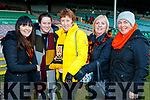 Joanie Sexton, Aoife Cronin, Noreen Coffey, Mags Campbell and Joan O'Leary, pictured at the Munster Senior Club final Dr. Crokes v St Joseph's Miltown-Malbay at the Gaelic Grounds Limerick, on Sunday last.