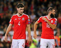 Ben Davies of Wales in action during the FIFA World Cup Qualifier Group D match between Wales and Republic of Ireland at The Cardiff City Stadium, Wales, UK. Monday 09 October 2017