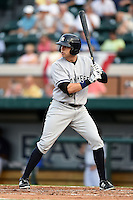 Tampa Yankees outfielder Jake Cave (18) during a game against the Lakeland Flying Tigers on April 3, 2014 at Joker Marchant Stadium in Lakeland, Florida.  Tampa defeated Lakeland 4-0.  (Mike Janes/Four Seam Images)