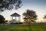 The Victorian style bandstand at Bluff Park on the Natchez Bluff overlooking the Mississippi River.