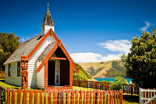 Church at The Kaik near Akaroa - Banks Peninsula, Canterbury, New Zealand
