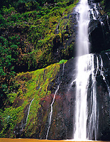 Waterfall Nuku Hiva Island, Marquesas Islands French Polynesia Rainforest in Hakapaa Valley