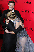 "LOS ANGELES, CA - NOVEMBER 18: Los Angeles Premiere Of Lionsgate's ""The Hunger Games: Catching Fire"" held at Nokia Theatre L.A. Live on November 18, 2013 in Los Angeles, California. (Photo by David Acosta/Celebrity Monitor)"