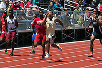 University City senior Cortez Simmons won the 100-11.11 and 200-22.35 meter dashes at the 2016 MSHSAA Class 4 District 3 Track and Field Meet at Ladue High School, St. Louis, Saturday, May 14.