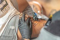 SÃO PAULO, SP, 19.10.2018 - TATTOO WEEK - Público durante a Tattoo Week na São Paulo Expo no bairro da Água Funda, na região Sul da cidade de São Paulo nesta sexta-feira, 19. (Foto: Anderson Lira/Brazil Photo Press)