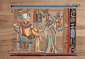Interlitho, MODERN, Fantasy, paintings, couple, egyptian symbols, KL4346,#N# illustrations, pinturas