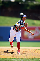 Reading Fightin Phils relief pitcher Miguel Nunez (36) during a game against the New Hampshire Fisher Cats on June 6, 2016 at FirstEnergy Stadium in Reading, Pennsylvania.  Reading defeated New Hampshire 2-1.  (Mike Janes/Four Seam Images)