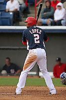 Washington Nationals Felipe Lopez during a Grapefruit League Spring Training game at Spacecoast Stadium on March 19, 2007 in Melbourne, Florida.  (Mike Janes/Four Seam Images)