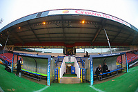 A general view of Crown Oil Arena home of Rochdale fc ahead of the Bet League 1 match between Rochdale and Walsall at Spotland Stadium, Rochdale, England on 23 December 2017. Photo by Juel Miah / PRiME Media Images.
