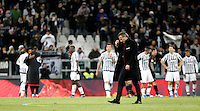 Calcio, Serie A: Juventus vs Milan. Torino, Juventus Stadium, 21 novembre 2015. <br /> AC Milan&rsquo;s coach Sinisa Mihajlovic leaves the pitch at the end of the Italian Serie A football match between Juventus and AC Milan at Turin's Juventus stadium, 21 November 2015. Juventus won 1-0.<br /> UPDATE IMAGES PRESS/Isabella Bonotto