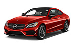 2017 Mercedes Benz C-Class AMG-C43 2 Door Coupe Angular Front stock photos of front three quarter view