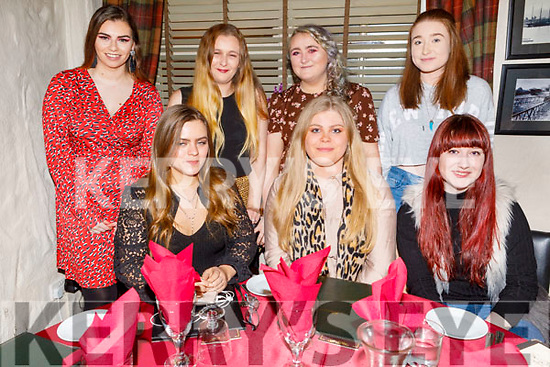 Enjoying Little Women's Christmas in Cassidys on Monday. <br /> Seated l to r: Kelly Rohan, Louise Thornton and Joan Walsh.<br /> Back l to r: Ailish Conway, Megan and Catherine McKivergan and Rebecca Walsh