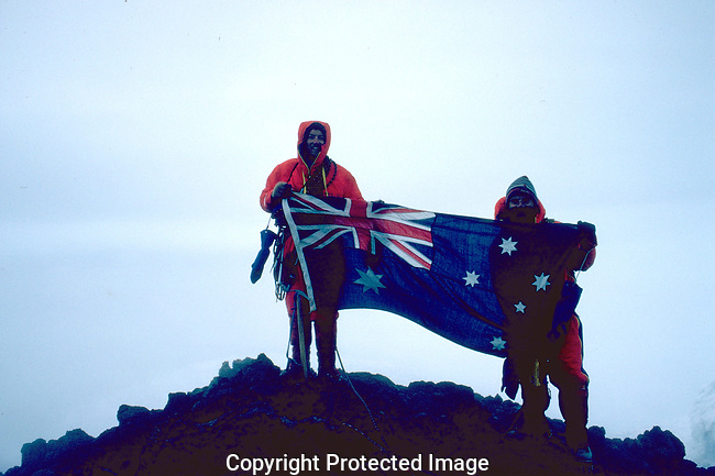 1983 Heard Island Expedition made the second ascent of Mawson's Peak atop Big Ben