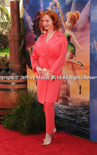 BURBANK, CA- MARCH 22: Actress Christina Hendricks  attends the premiere of DisneyToon Studios' 'The Pirate Fairy' at Walt Disney Studios on March 22, 2014 in Burbank, California.