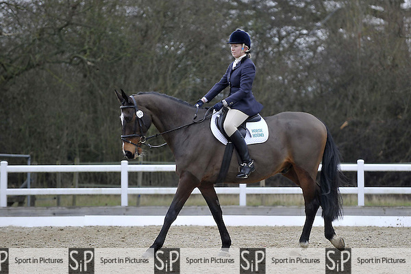 Class 2. Prelim 12. Team Dressage. Brook Farm Training Centre. Essex. 13/02/2016. MANDATORY Credit Garry Bowden/Sportinpictures - NO UNAUTHORISED USE - 07837 394578
