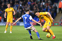 Preston North End's Josh Earl takes on Ipswich Town's Gwion Edwards<br /> <br /> Photographer David Shipman/CameraSport<br /> <br /> The EFL Sky Bet Championship - Ipswich Town v Preston North End - Saturday 3rd November 2018 - Portman Road - Ipswich<br /> <br /> World Copyright &copy; 2018 CameraSport. All rights reserved. 43 Linden Ave. Countesthorpe. Leicester. England. LE8 5PG - Tel: +44 (0) 116 277 4147 - admin@camerasport.com - www.camerasport.com