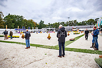 The Arena Inspection for the SUPERSTARS OF EVENTING in the new all weather arena. 2017 NED-Military Boekelo CCIO3* FEI Nation Cup Eventing. Wednesday 4 October. Copyright Photo: Libby Law Photography