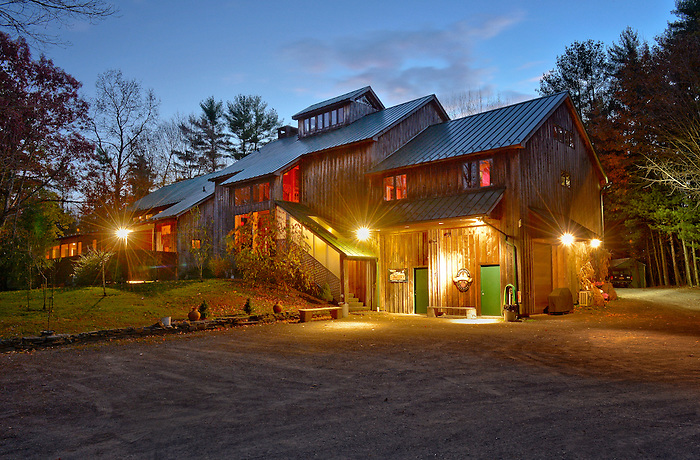 Levon Helm's Barn, home and venue for The Band's drummer located in Woodstock, New York. If you have ever had the chance to see a show ( The Midnight Ramble ) with Levon and the Dirt Farmer Band , you know what a special and magical place and experience it is. This is a limited edition of 100, archival 17 x 22 inch color photograph