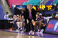 GREENSBORO, NC - MARCH 6: Head coach Amanda Butler of Clemson University during a game between Clemson and Boston College at Greensboro Coliseum on March 6, 2020 in Greensboro, North Carolina.
