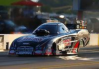 Sep 13, 2013; Charlotte, NC, USA; NHRA funny car driver Matt Hagan during qualifying for the Carolina Nationals at zMax Dragway. Mandatory Credit: Mark J. Rebilas-