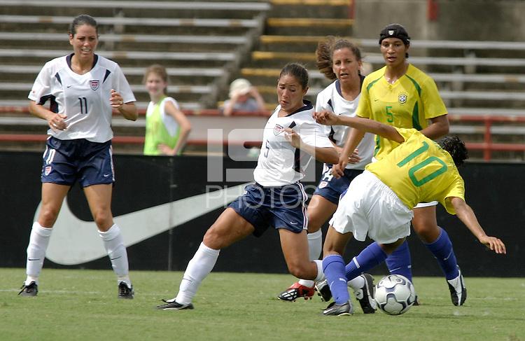 Tiffany Roberts, USWNT vs Brazil.