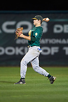 Siena Saints center fielder Dan Swain (22) during a game against the Stetson Hatters on February 23, 2016 at Melching Field at Conrad Park in DeLand, Florida.  Stetson defeated Siena 5-3.  (Mike Janes/Four Seam Images)
