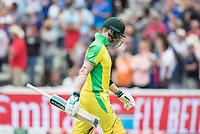 Steve Smith (Australia) departs the arena, run out during Australia vs England, ICC World Cup Semi-Final Cricket at Edgbaston Stadium on 11th July 2019