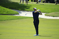 Justin Rose (ENG) in action during the final round of the Northern Trust played at Liberty National Golf Club, Jersey City, USA. 11/08/2019<br /> Picture: Golffile | Michael Cohen<br /> <br /> All photo usage must carry mandatory copyright credit (© Golffile | Michael Cohen)