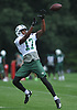 Charone Peake #17 makes a catch during New York Jets Training Camp at the Atlantic Health Jets Training Center in Florham Park, NJ on Thursday, Aug. 10, 2017.