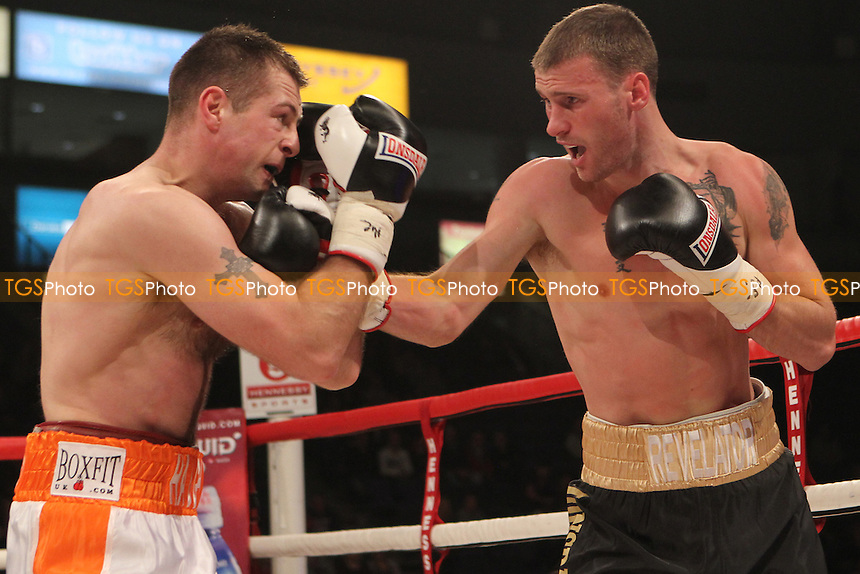 John O'Donnell vs Stephen Haughian in a boxing contest at the Odyssey Arena, Belfast, Northern Ireland promoted by Hennessy Sports - 01/12/12 - MANDATORY CREDIT: Chris Royle/TGSPHOTO - Self billing applies where appropriate - 0845 094 6026 - contact@tgsphoto.co.uk - NO UNPAID USE..