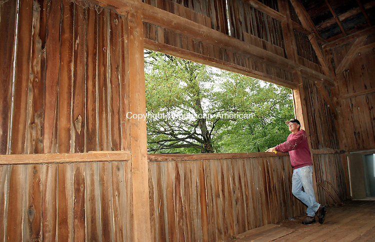 TORRINGTON, CT-29August 2006-082906TK08- (left to right) A window was cut into the west side of the barn by Bob Bombardieri to take advantage of the western secnic view.  Tom Kabelka Republican-American (Bob Bombardieri)