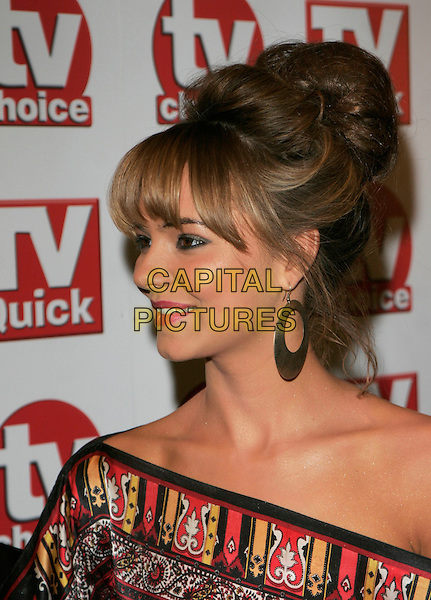 KARA TOINTON.Inside Arrivals at the TV Quick & TV Choice Awards,.The Dorchester Hotel, London, England, .September 3rd 2007..portrait headshot fringe profile.CAP/AH.©Adam Houghton/Capital Pictures.