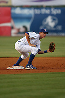 April 16, 2009:  Second baseman Nathan Samson of the Daytona Cubs, Florida State League Class-A affiliate of the Chicago Cubs, during a game at Jackie Robinson Stadium in Daytona Beach, FL.  Photo by:  Mike Janes/Four Seam Images