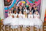 Children from CBS Primary School, Clounalour, who made their First Holy Communion on Saturday at St John's Church, Tralee<br /> Ms. McMahon's Class:  front row, left to right: Lisa Rowan, Shannon Oba Elumelu, Rachel Molly Jordan Banks, Emily May Burgin, Lauren McGuillycuddy, Amy Heaphy <br /> 2nd row: Dominik Galecki, Mateusz Kowalski , Piotr Walanas, Paddy McMahon, Keith Quillinan, Rory Locke Clifford, <br /> 3rd row: Tyrique McCarthy, Sean Whelan, Mateusz Witkowski, Eoghan Bradshaw, Garóid O'Shea