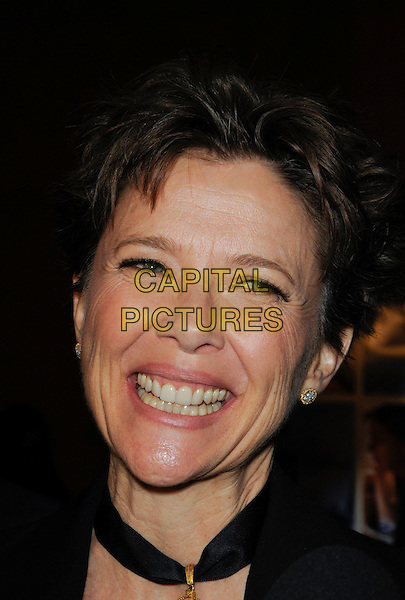 ANNETTE BENING.The Sony Picture Classics L.A. Premiere of 'Mother and Child' held at The Egyptian Theatre in Hollywood, California, USA..April 19th, 2010 .headshot portrait black gold choker necklace smiling.CAP/ROT.©Lee Roth/Capital Pictures