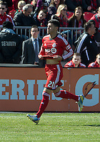 30 March 2013: Toronto FC midfielder Jonathan Osorio #21in action during an MLS game between the LA Galaxy and Toronto FC at BMO Field in Toronto, Ontario Canada..The game ended in a 2-2 draw..