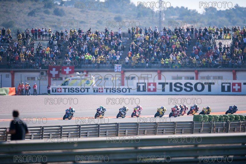 VALENCIA, SPAIN - NOVEMBER 8: Tito Rabat, Alex Rins, Johann Zarco, Thomas Luthi, Julian Simon during Valencia MotoGP 2015 at Ricardo Tormo Circuit on November 8, 2015 in Valencia, Spain