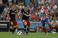 27.08.2012 SPAIN -  La Liga 12/13 Matchday 2th  match played between Atletico de Madrid vs Athletic Club de Bilbao (4-0) with hat-trick Radamel Falcao at Vicente Calderon stadium. The picture show Aitor Ocio Carrion (Spanish defender of Athletic)
