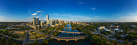 Awesome aerial view of the many bridges, five to be exact, that connect the bustling downtown corridor to South Austin. Austin has the fasting growing downtown in the country and real estate is hard to come by and cost a premium.