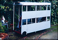BNPS.co.uk (01202 558833)<br /> Pic: KeithBurbidge/BNPS<br /> <br /> Work in progress.<br /> <br /> Dinky decker...<br /> <br /> A retired bus driver has taken his passion for buses to the next level - by transforming a broken mobility scooter into a quirky mini yellow bus.<br /> <br /> Keith Burbidge, 75, retired as a coach driver last year but missed the mode of public transport so much he decided to make his own miniature version.<br /> <br /> The father-of-two spent just &pound;40 and six months turning a broken scooter he picked up at auction into a working scale-model of a Yellow Bus, the company that operates in his hometown of Bournemouth, Dorset.<br /> <br /> The one-of-a-kind motor is 4ft tall and 6ft long and can only travel at speeds of about 5mph.